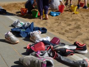 Pausenspiele im Sandkasten